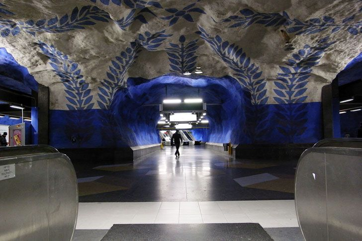 Stockholm's Subway System is the World's Largest Underground Art Museum --- Note that it also makes it easier to protect (am thinking of museums being bombed during the world wars)