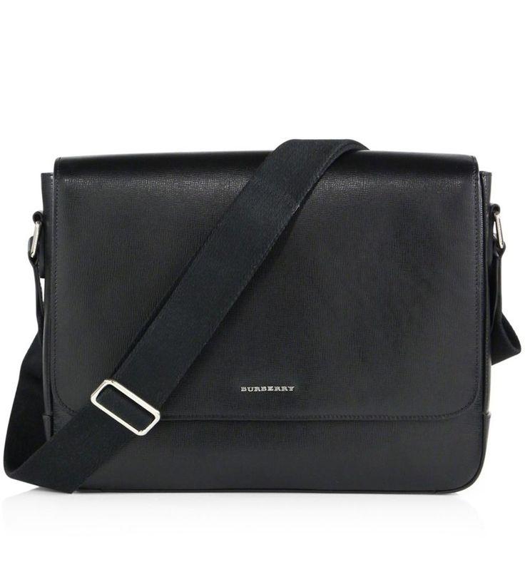 Burberry London Leather Messenger Bag Black             $219.00