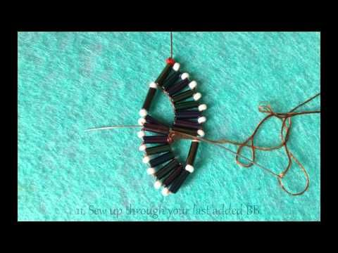 video: double wave bugle bracelet with beaded clasp - #Seed #Bead #Tutorials