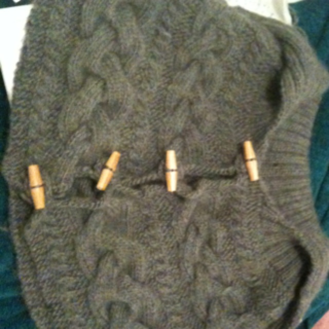Cable knit cape for my sister