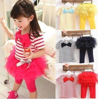 free shipping Kids set summer wear Short sleeve set Children clothing suit t shirt+pants