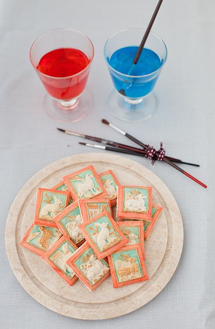 How to Paint Springerle Cookies with Springerle Dough Recipe