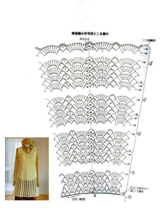 Túnica crochet sencilla ➤ EL ARTE DE TEJER ➤ Crochet Patrones ...