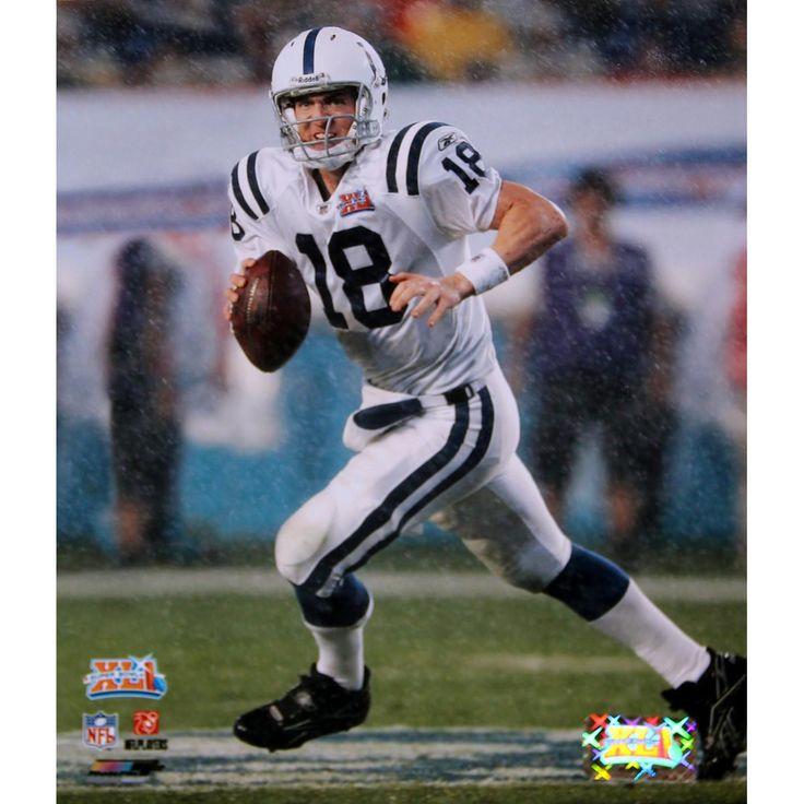 Peyton Manning Super Bowl XLI Rolling Out 8x10