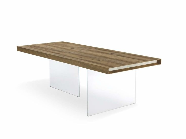 Modern Lago Air Wildwood Dining Table with Glass Legs