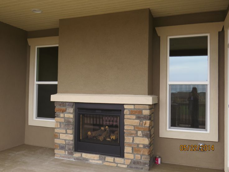 The Kirkland By Campbell Homes Ranch Plan Double Sided Fireplace Outdoor Fireplace Meridian