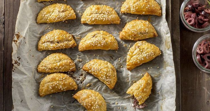 Feta and Olive Turnovers with a Kourou Dough