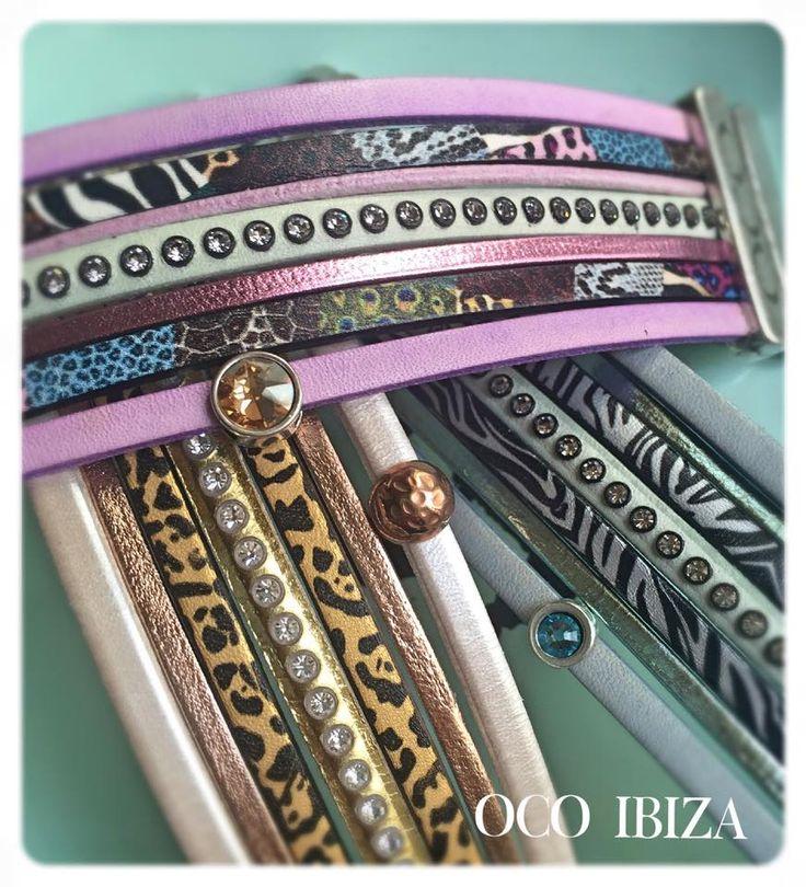 #ocoibiza #handmade #bracelets #animalprint #oneofakind #swarovski