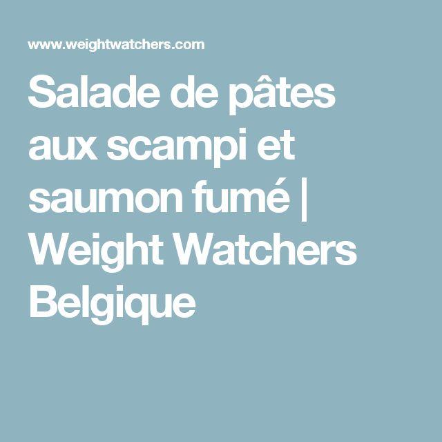 Salade de pâtes aux scampi et saumon fumé | Weight Watchers Belgique
