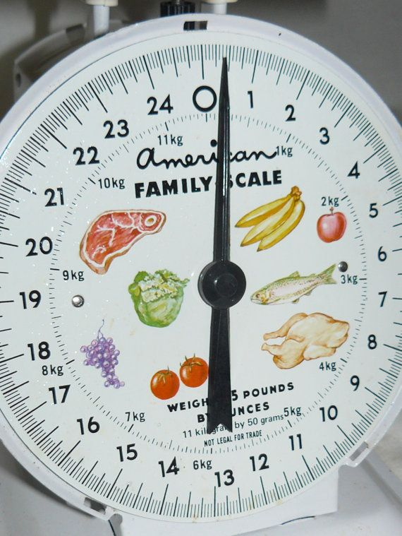 Midcentury KITCHEN SCALE Vintage Mint in by VINTAGE5AN10CENTSHOP, $30.00