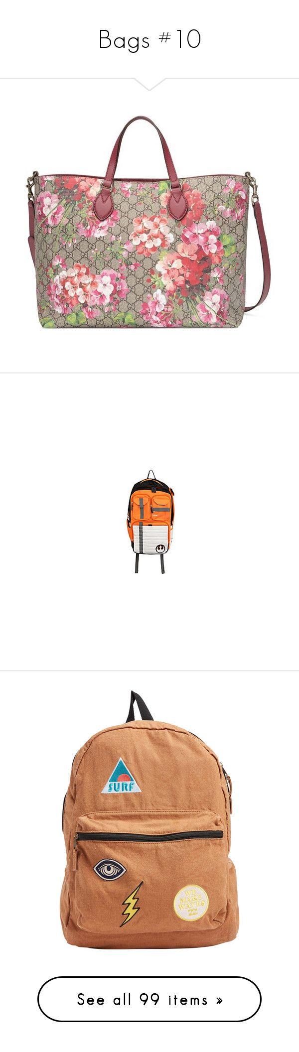 """Bags #10"" by banana-lee ❤ liked on Polyvore featuring bags, handbags, tote bags, gucci, tote handbags, canvas totes, tote purses, gucci handbags, backpacks and orange backpack"