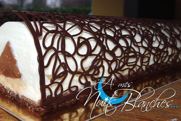 Bûche Poire Chocolat