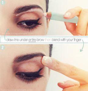 Cómo maquillar los ojos caídos