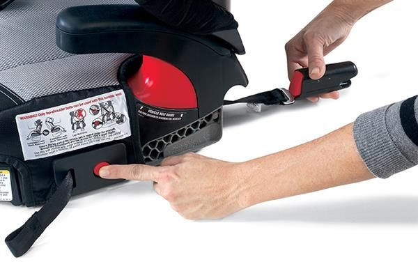 The Britax Parkway SGL features the ISOFLEX Flexible Lower LATCH Connection System that allows for an easy installation in seconds from either side of the booster seat with only two clicks and a pull. This system not only secures the booster seat to the vehicle, but also stabilizes it during a crash, preventing it from becoming a projectile when not in use.