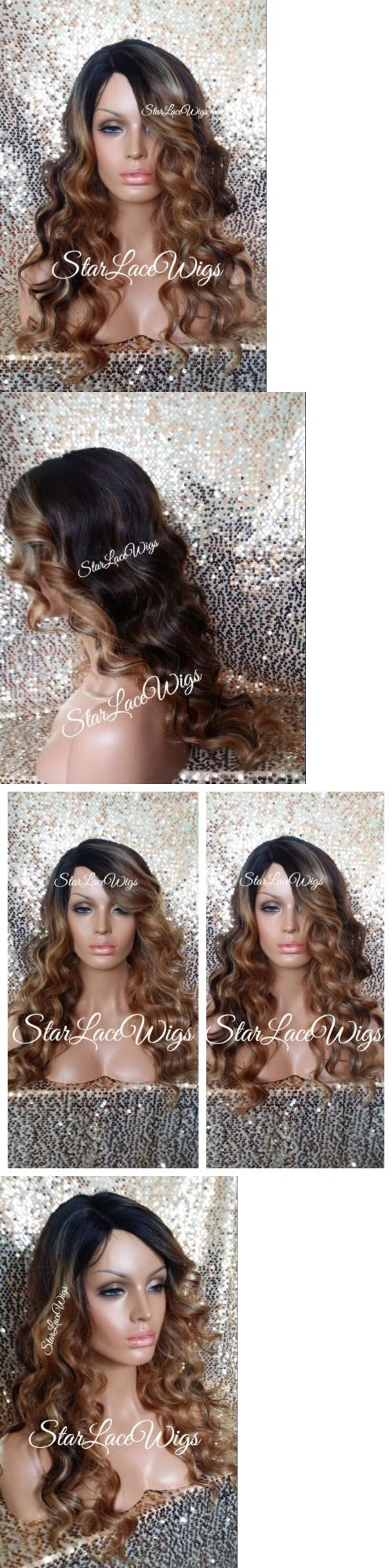 Wigs and Hairpieces: Curly Body Wave Lace Front Wig Brown Auburn Blonde Ombre Mix Highlight Heat Safe -> BUY IT NOW ONLY: $64.99 on eBay!