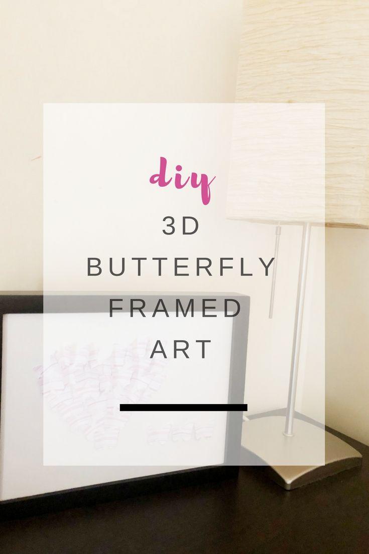 3D Framed Love Heart Butterfly shadow box - Ioanna's Notebook