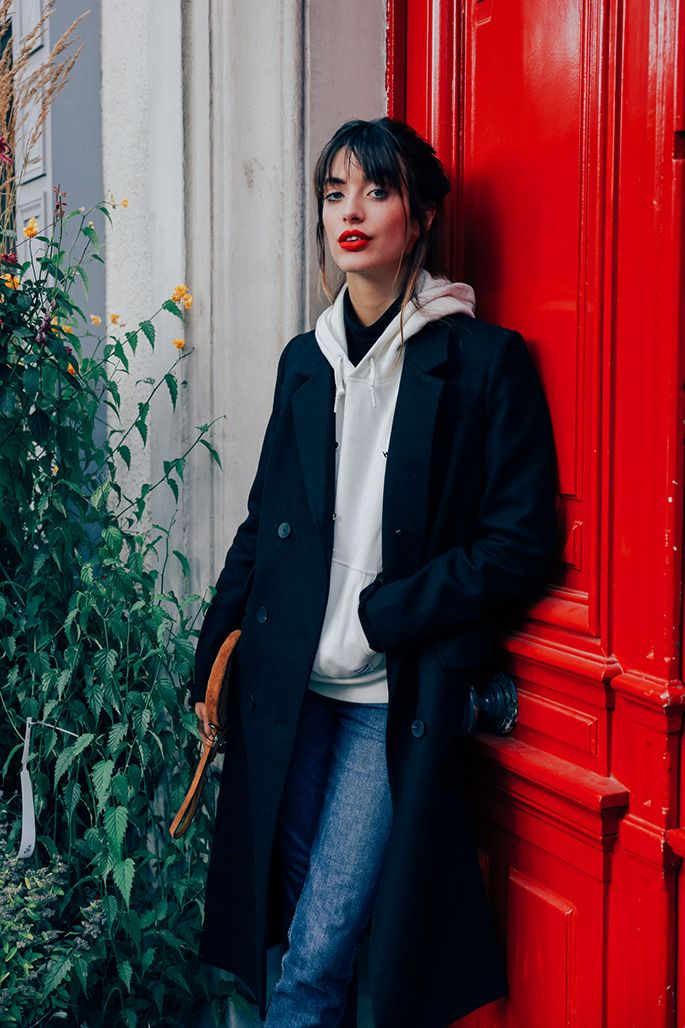 Model, Louise Follain street style shot by Dan Roberts in Paris. Read her bio and shop her STREET 365 look via CHRONICLES OF HER.