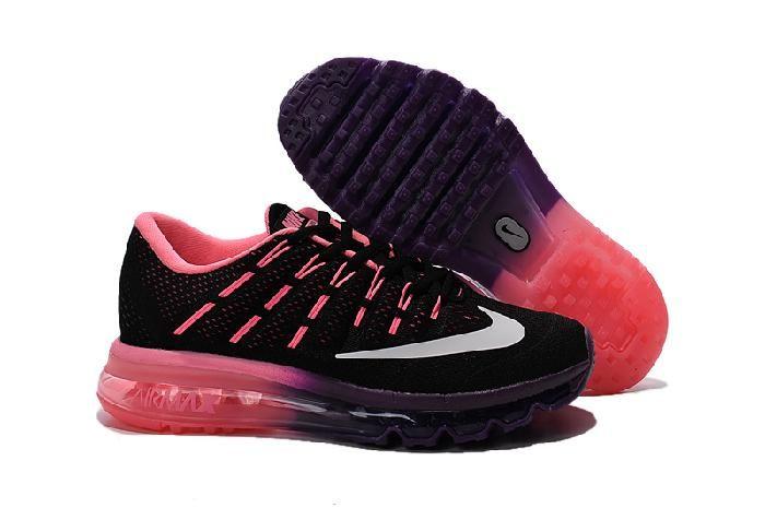 promo code 9ab6d 06796 ... Billig Nike Air Max 2016 Laufend Schuhe Für Frauen damen Schwarz Lila  Zu Verkaufen Online