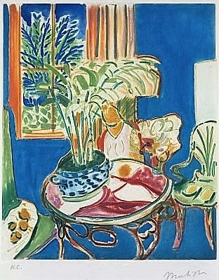 Henri Matisse, Petit interieur bleu ( little blue interior -1952 on ArtStack #henri-matisse #art