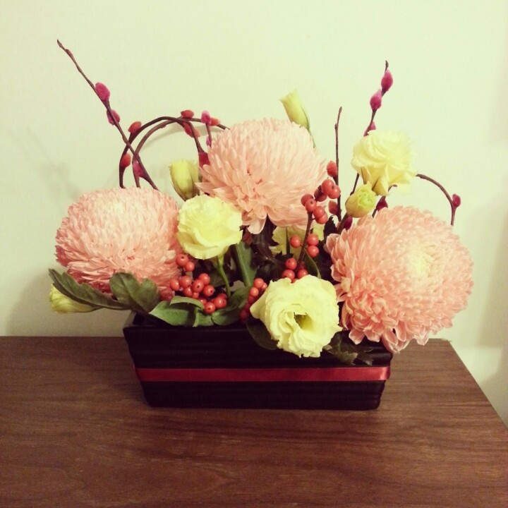 Chinese New Year floral centerpiece