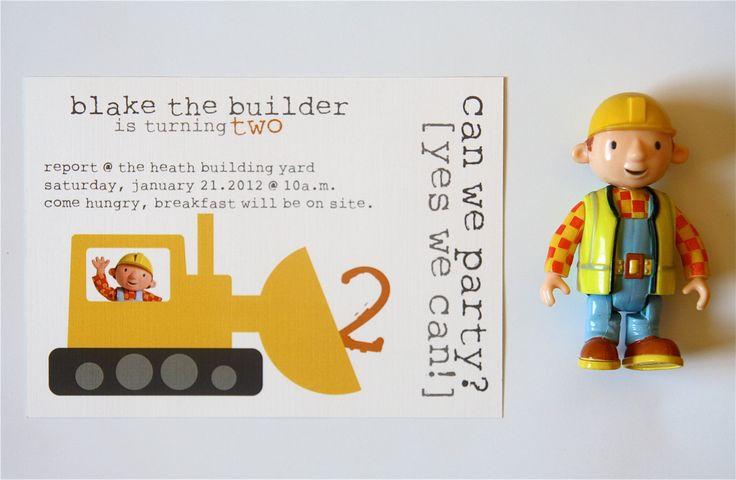 Bob the Builder Invitation by invitationsbymelanie on Etsy