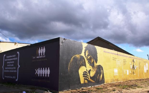 In South Africa, a woman is raped every 26 seconds; 1 in 4 women are victims of domestic violence and every 6 hours a woman is killed by her intimate partner. These are the statistics that are depicted on a mural in Khayelitsha