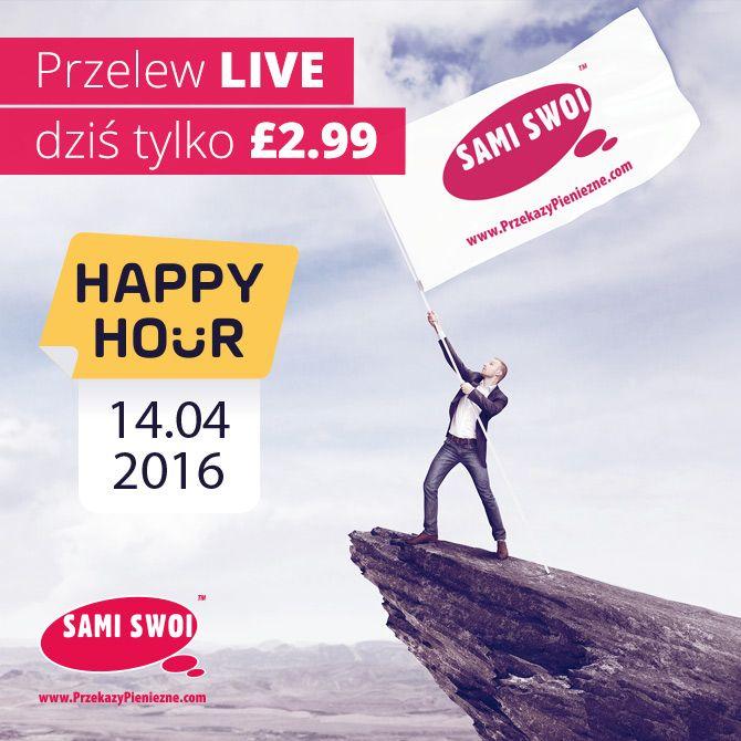 Mega promocja. Przelew do Polski w 10 minut dziś przez kilka godzin kosztuje tylko 2.99GBP. Pobierz aplikację i skorzystaj z promocji.