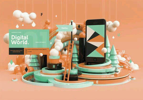#KlauVázkez #3D #Typography #Art #Design #Imagination #Colors