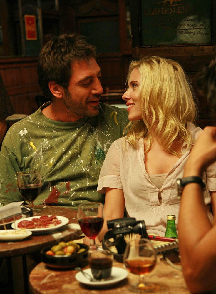 Javier Bardem and Scarlett Johansson in Vicky Cristina Barcelona ... the happy days