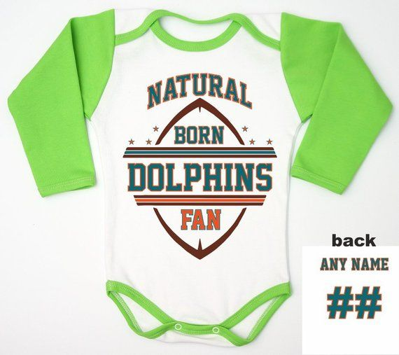 new concept 177aa af4b2 Custom Dolphins Gift / Football Baby Jersey / Football Miami ...