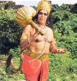 Dara Singh died today after prolonged illness today on 12th July 2012.  He became famous from his role as Hanuman in mythology serial Ramayana
