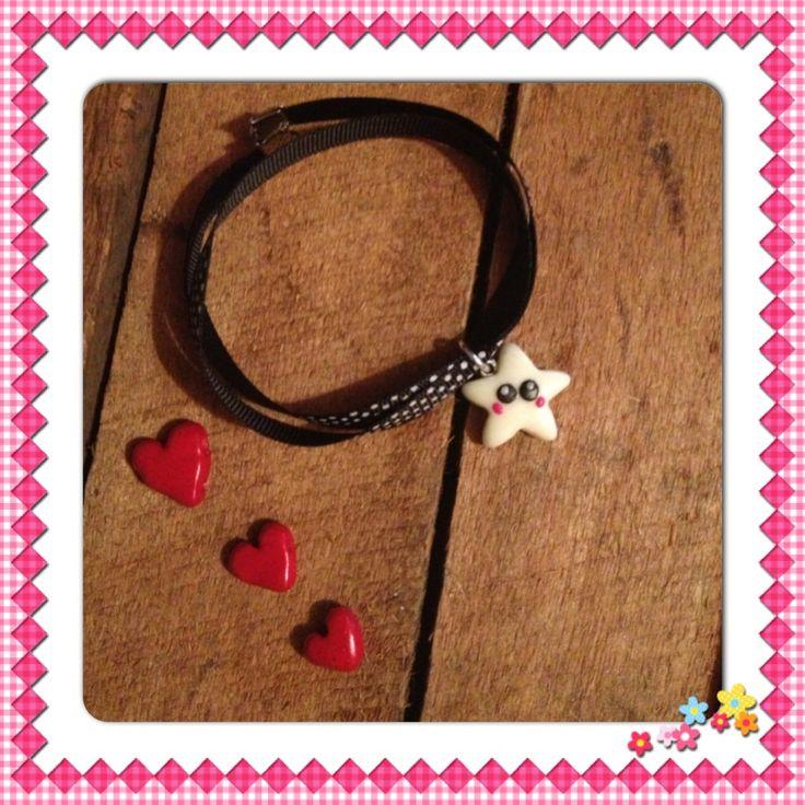 Bracelet ruban Charms étoile