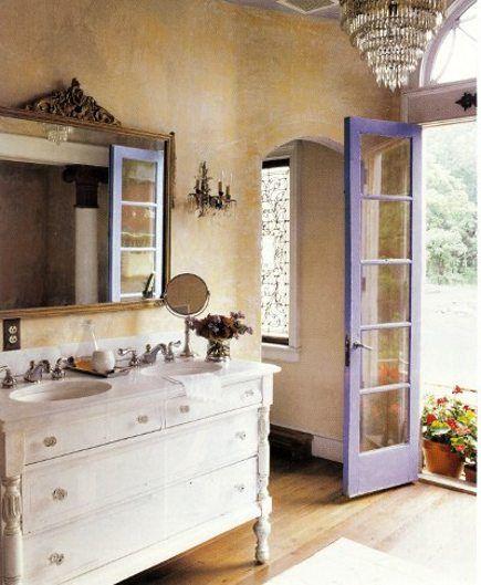 rustic+cottage+bathrooms | Purple Bathrooms | Atticmag | Kitchens, Bathrooms, Interior Design