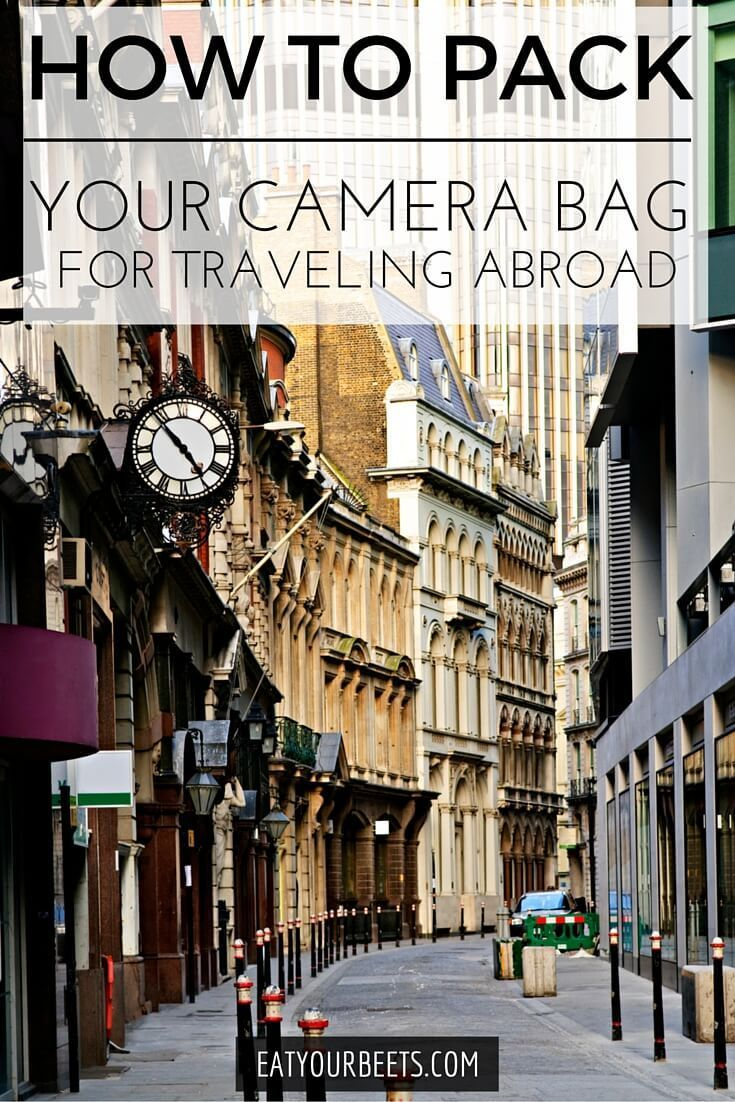 Wondering how to pack for traveling to Europe? Don't miss this post on how to pack your camera bag for traveling abroad. Travel smart & keep your gear safe!