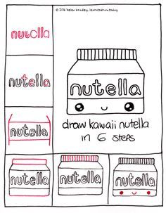 Image result for how to draw kawaii food step by step