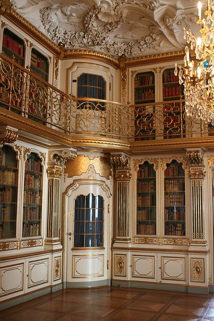 Library of Christiansborg Palace in Copenhagen, Denmark