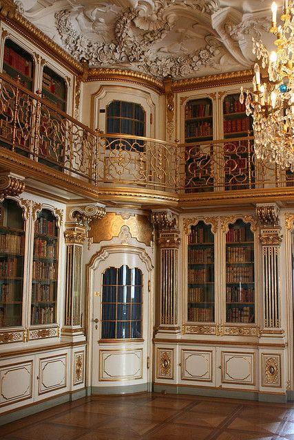 Library of Christiansborg Palace in Copenhagen, Denmark.