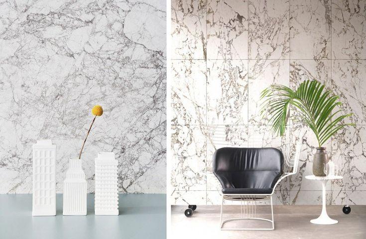 Faux Tile + Marble Wallpaper - decor8