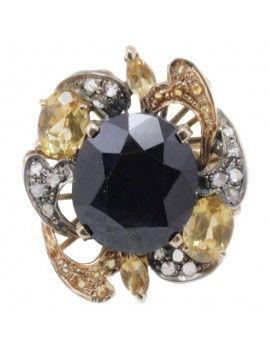 Diamond and Sapphire Ring.