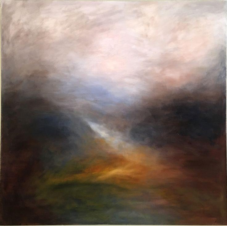 Orange field. Oil on canvas