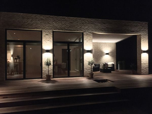 Welcome outdoor wall lamp at private residence, Denmark