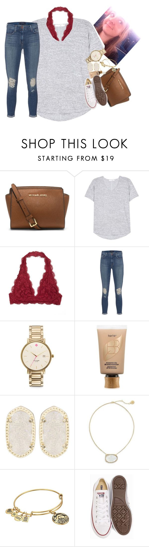 """""""@ THE CONCERT!!!"""" by ellaswiftie13 ❤ liked on Polyvore featuring MICHAEL Michael Kors, rag & bone, J Brand, Kate Spade, tarte, Kendra Scott, Louise et Cie, Alex and Ani and Converse"""