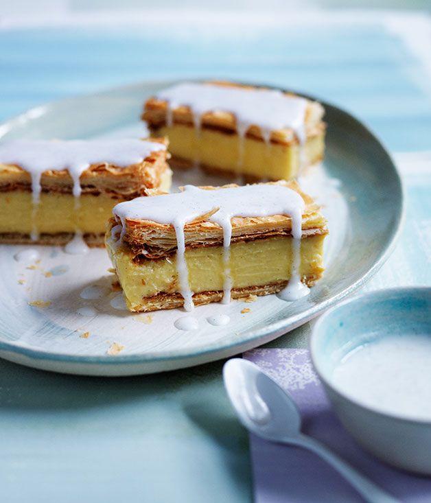 Australian Gourmet Traveller recipe for vanilla slice.