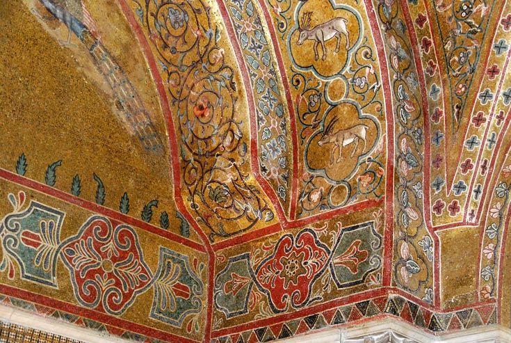 ВИЗАНТИЯ В КАРТИНКАХ - Зал короля Роджера в Норманнском дворце, Палермо, XII в.