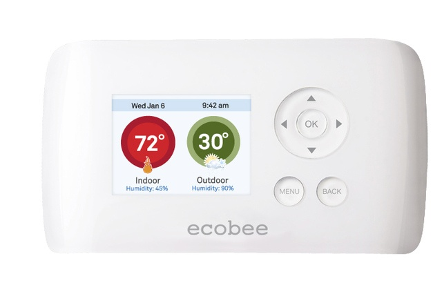 new thermostat that you can control from your computer by Ecobee