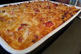 Slimming World Delights: Macaroni Chicken and Cheese Bake