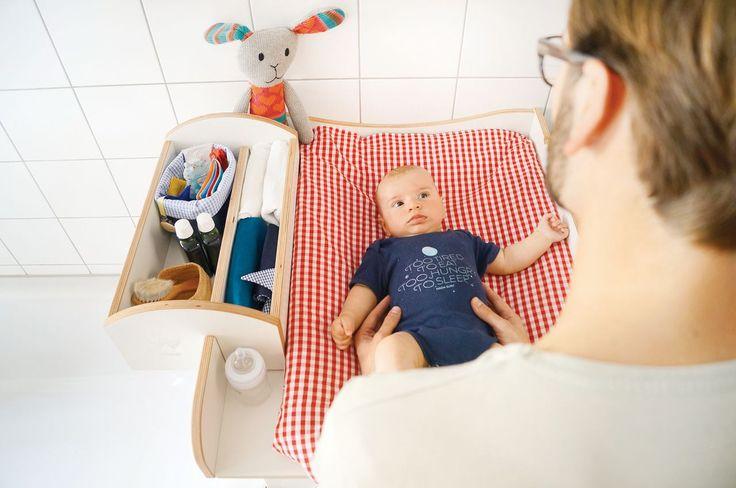 Wickwam Wickelaufsatz für Waschmaschine Weiß - Wickelkommoden & Regale - Kinderzimmer - Baby