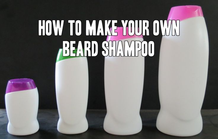 how to make beard shampoo DIY