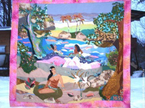 Handmade-Vintage-Quilt-Patchwork-Hand-made-182-x-192
