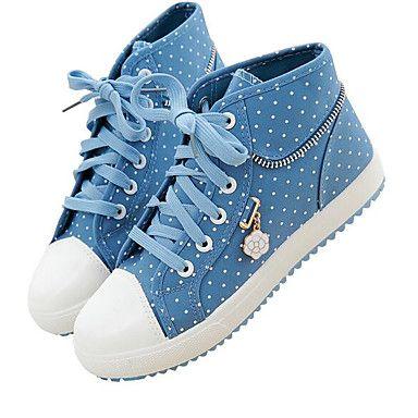 Mujer+Bailarinas+Confort+Tela+Primavera+Casual+Confort+Azul+Marino+Azul+Plano+–+ARS+$+9.832,12